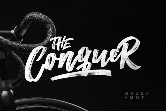 The Qonquer – Brush Font