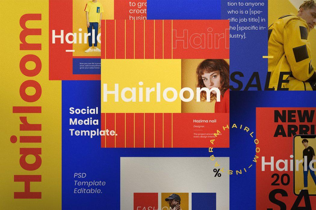 HAIRLOOM // Social Media Kit Post & Stories