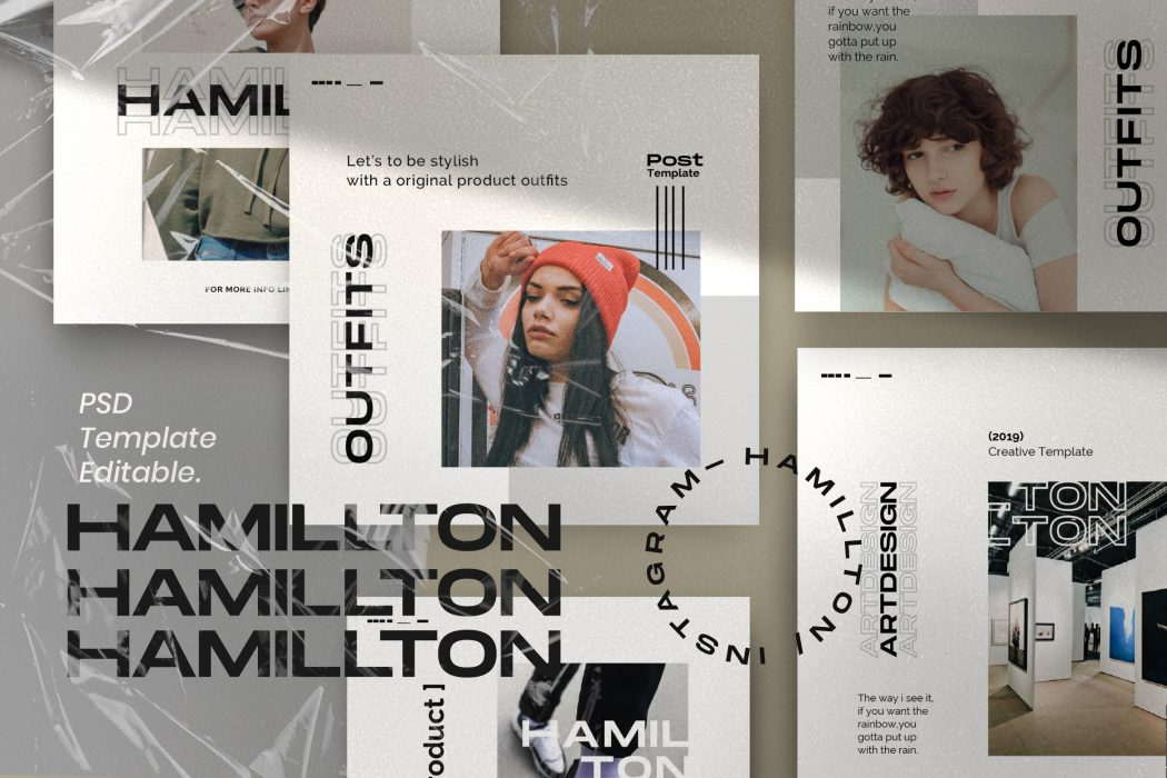 HAMILLTON // Social Media Kit Post & Stories
