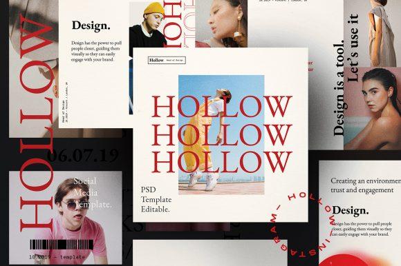 HOLLOW // Social Media Kit Post & Stories