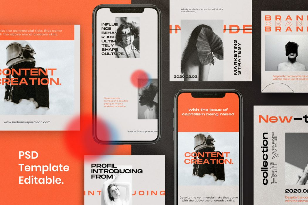 INCLEAN // Social Media Kit Post & Stories