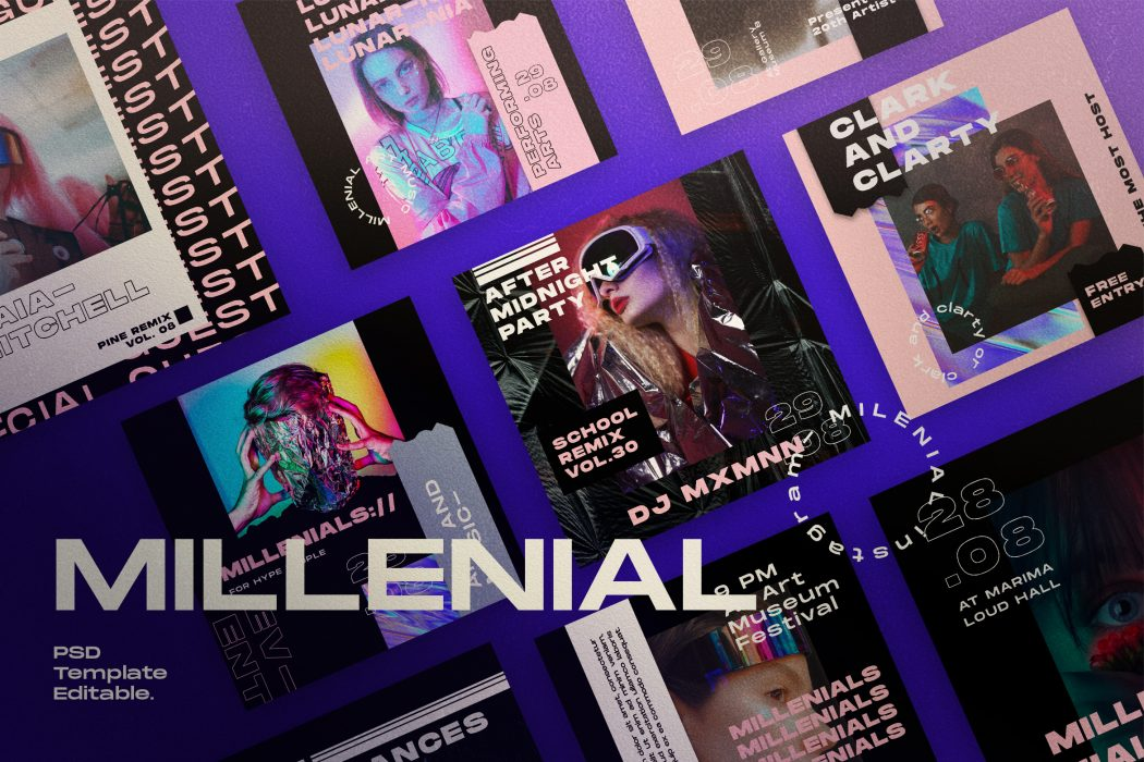 MILLENIALS// Social Media Kit Post & Stories