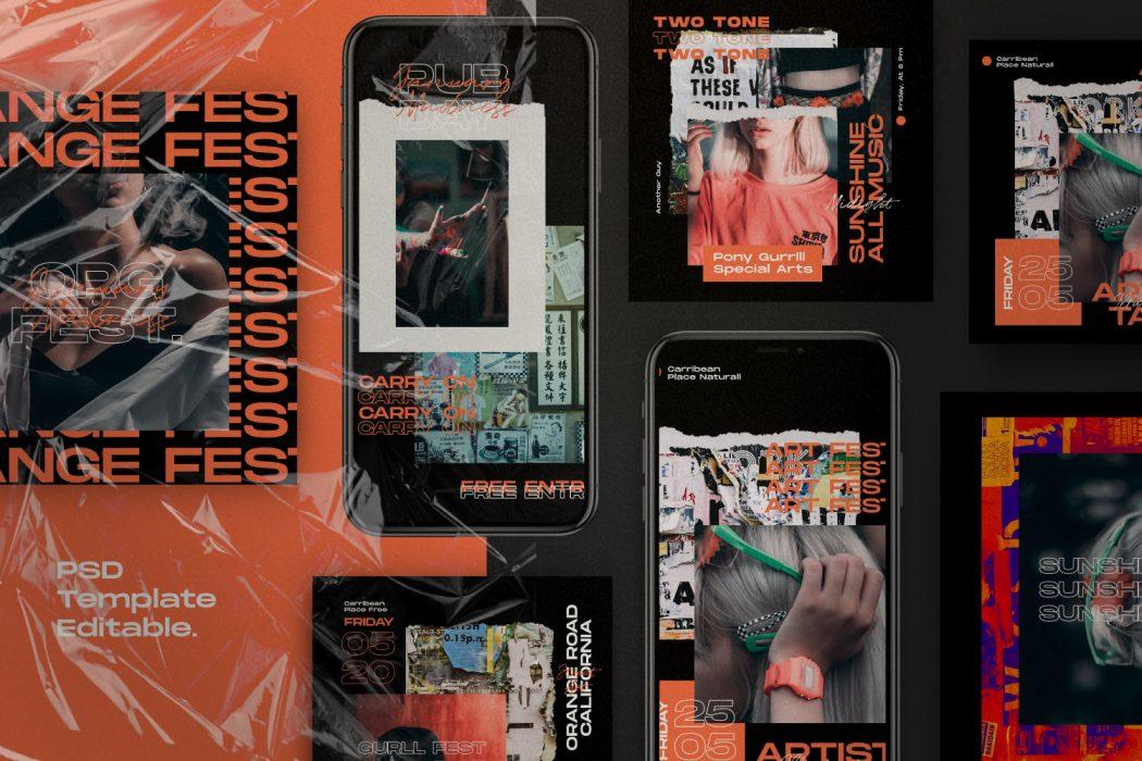 Orange Country // Social Media Kit Post & Stories