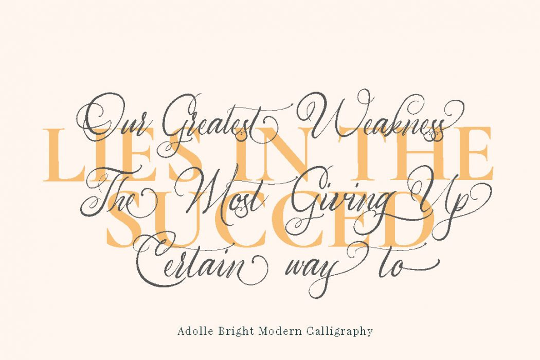 Adolle Bright – Free Font